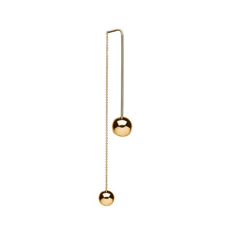 Charlotte Lebeck Jade Gold Threader Earring
