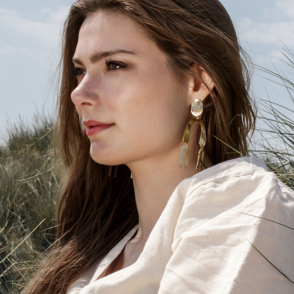 A Weathered Penny  Chandelier Earrings
