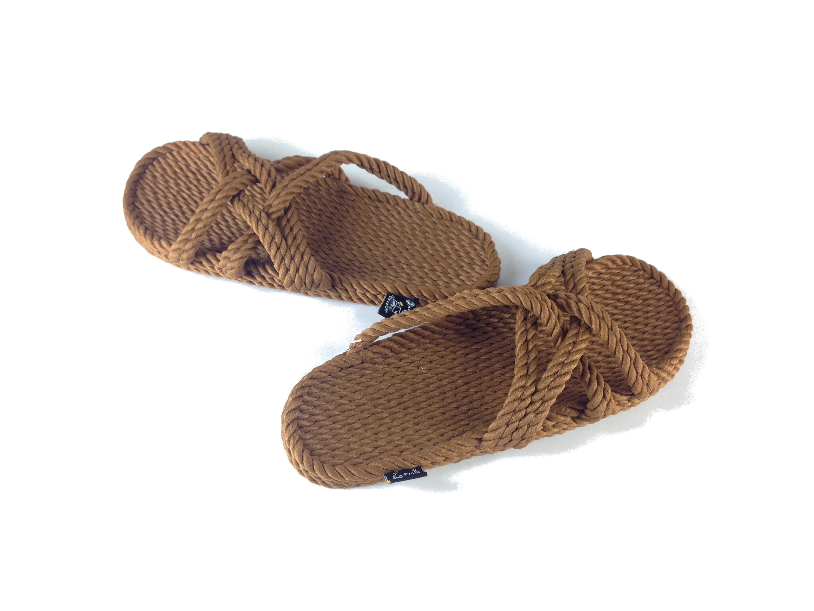 414862bef3f776 nomadic state of mind Brown Slip On Rope Sandal