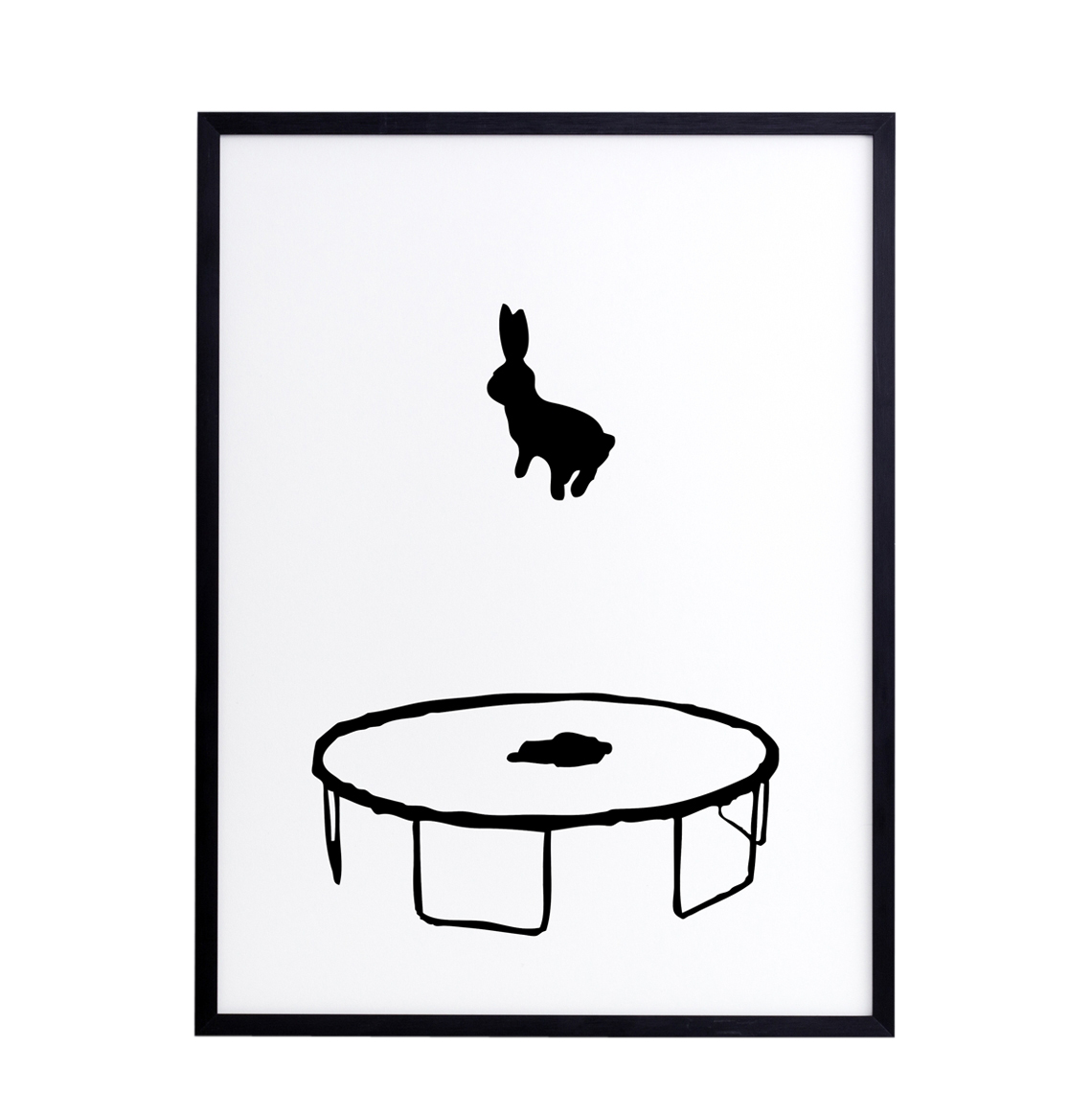 HAM Bouncing Rabbit Framed Print