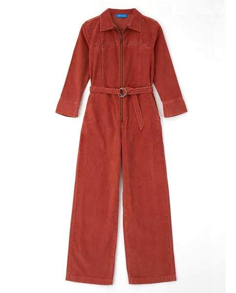 245e35c5880 Trouva  Red Copper Drayson Cord Jumpsuit
