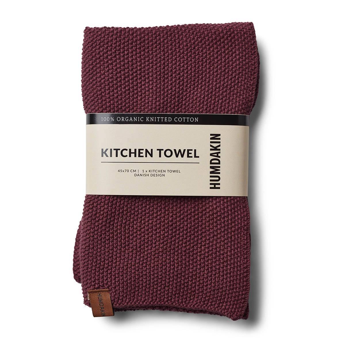 Humdakin Violet Plumb Knitted Kitchen Towel