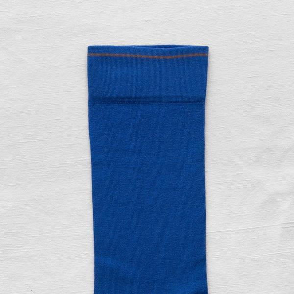 Bonne Maison Cobalt Plain  Socks
