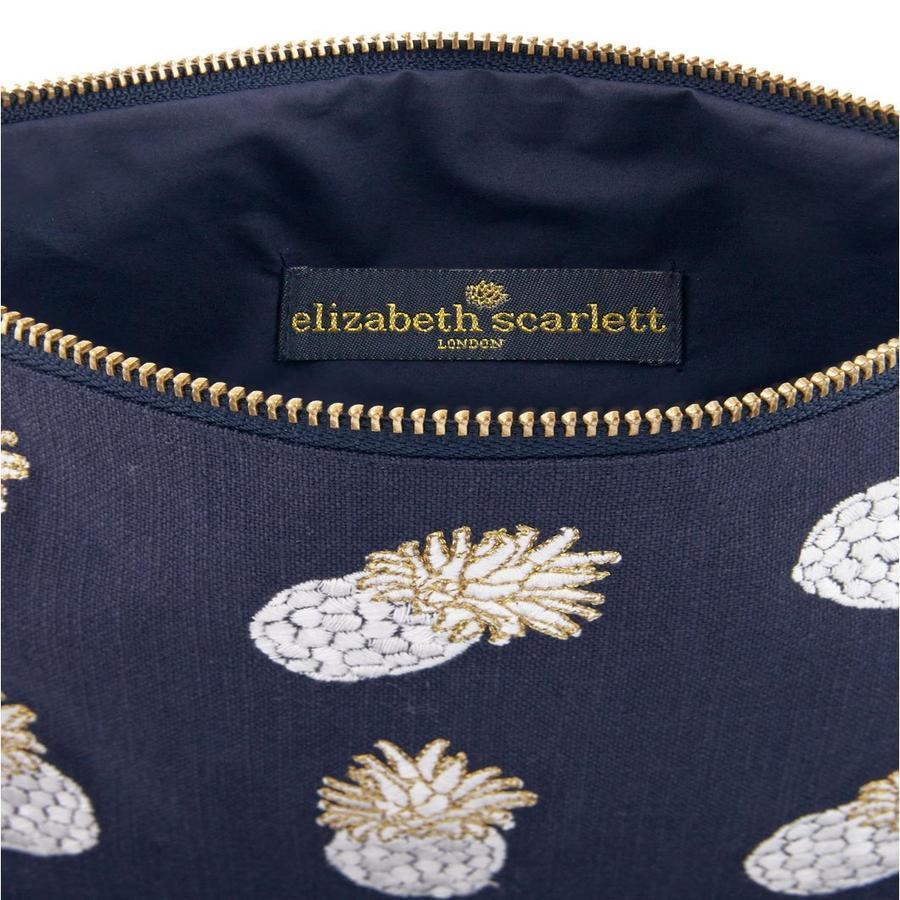 Elizabeth Scarlett Indigo Pineapple Washbag