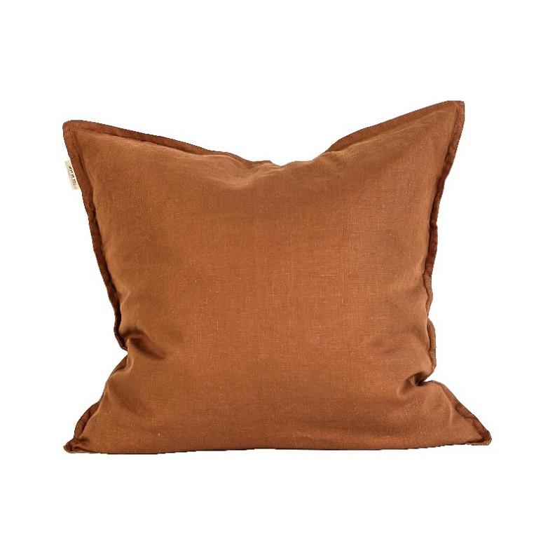 Tell Me More Amber 65x65cm Linen Cushion