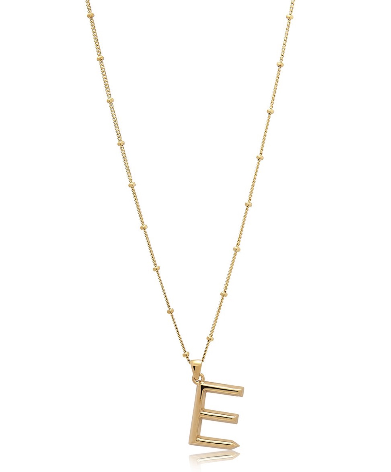 Edge of Ember Initial Chain Necklace E