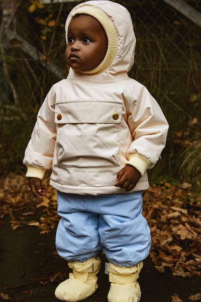 Mini a ture Pink Baby Wen Anorak Coat