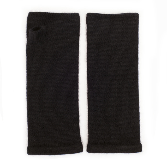 Somerville Scarves Plain Cashmere Wrist Warmers