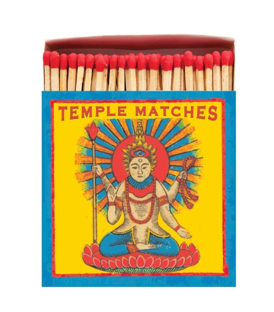 Archivist Long Luxury Matches In A square Box With A Temple Design