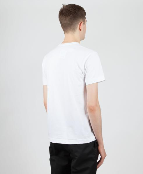 Comme Des Garcons Play White PLAY T-Shirt With Black Heart Logo