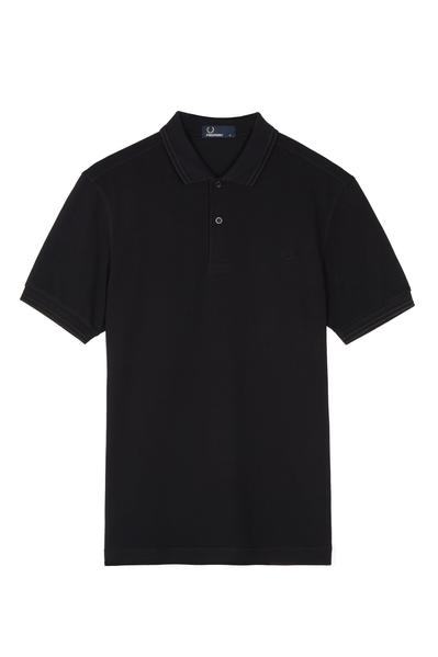 Fred Perry Authentics Black & White Twin Tipped T-Shirt