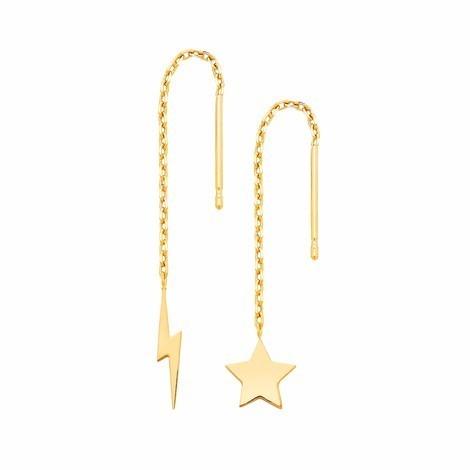 Estella Bartlett  Star & Lightening Bolt Chain Earrings