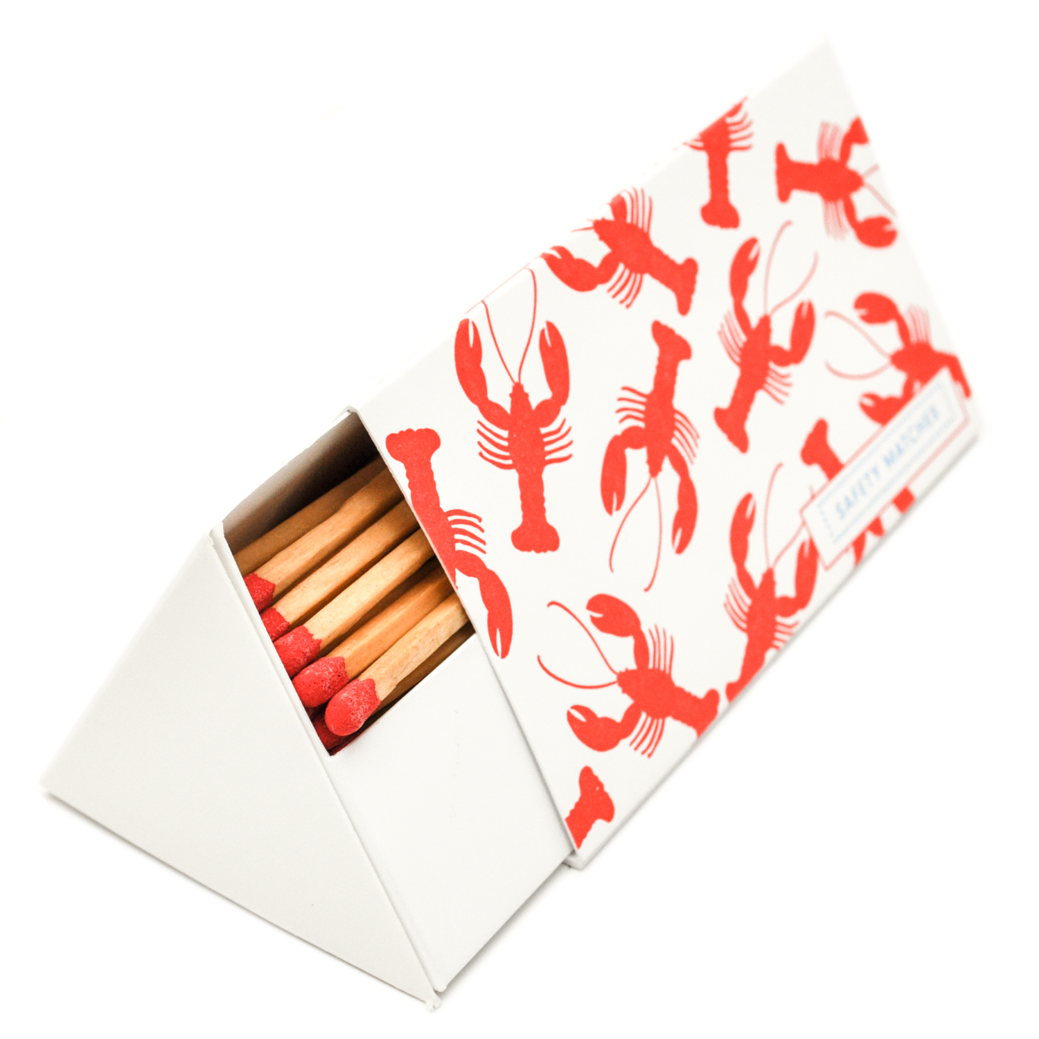 Archivist 'Lobster Roll' Triangular Box Of Matches