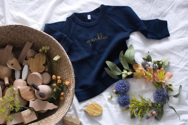 Organic Zoo Navy Sparkles Sweatshirt