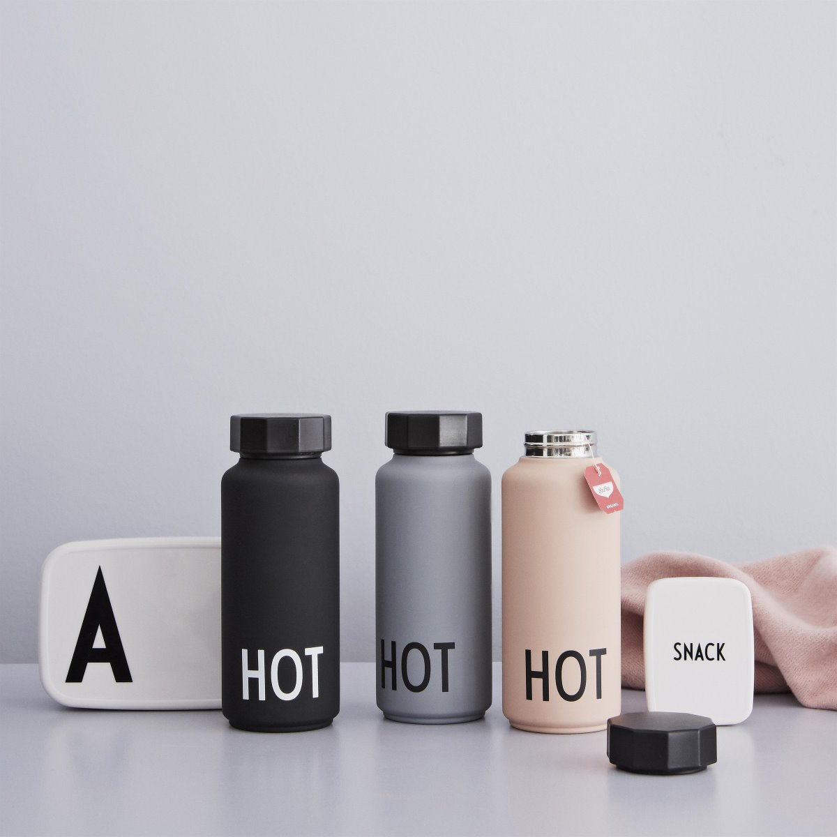 Design Letters Pink Thermo Insulated Bottle