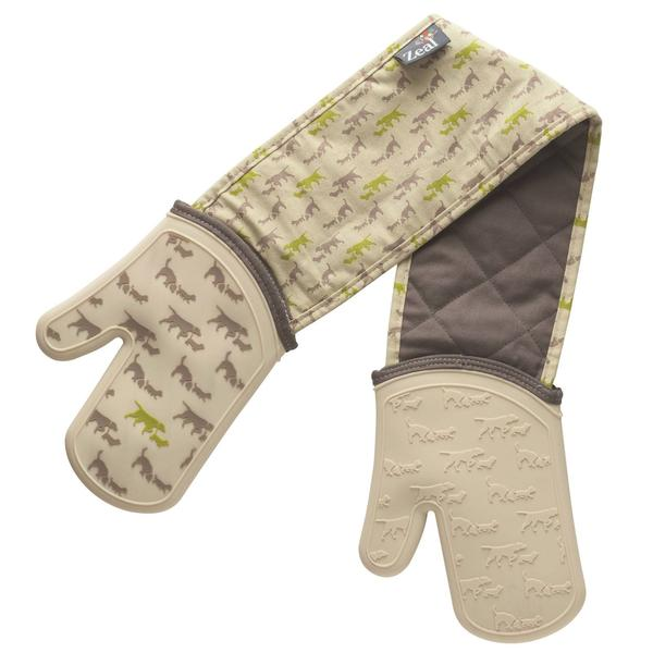 Zeal Steam Stop Dog Print Waterproof Double Oven Gloves