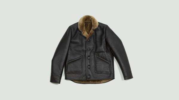 YMC Brown Brainticket Leather Jacket