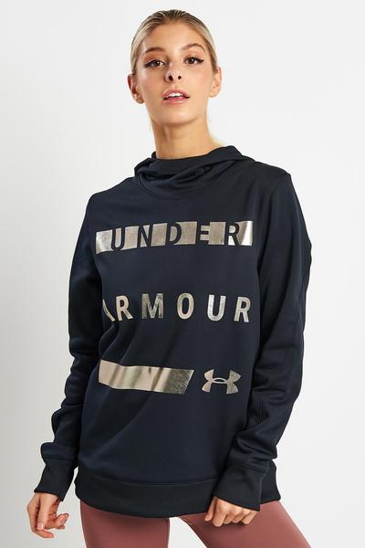 Under Armour Black Armour Fleece Hoodie Pullover