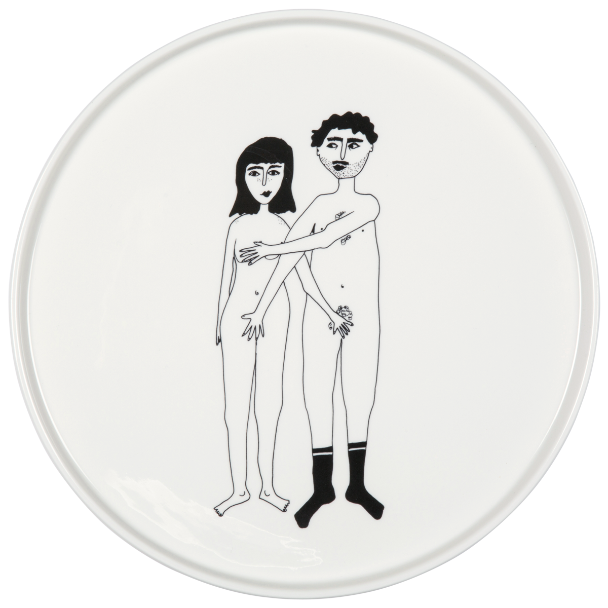 Helen B Naked Couple Porcelain Platter