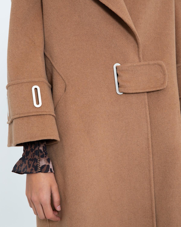new concept cec1b 003f3 Silvian Heach Long Camel Wrap Coat