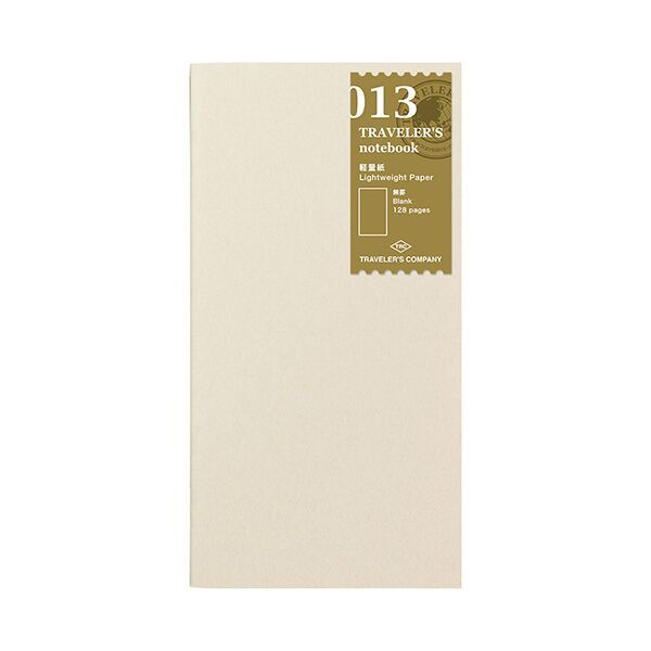 Traveler's Company Traveler's Notebook Refill 013 Lightweight Paper Regular Size