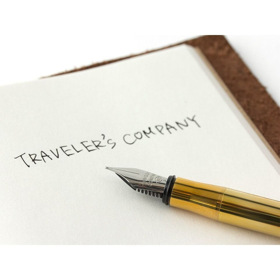 Traveler's Company TRC Traveler's Brass Fountain Pen
