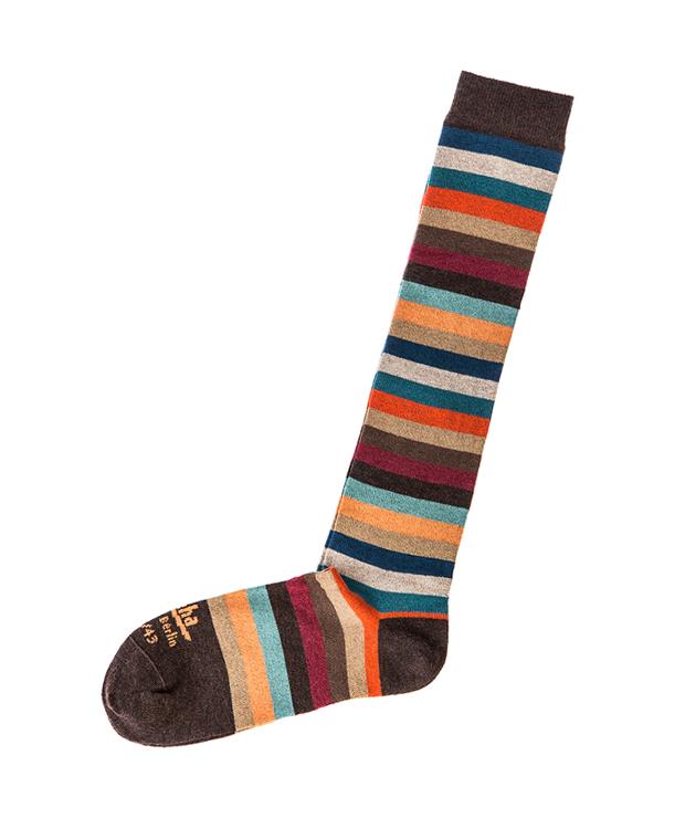 Zeha Berlin Striped Cotton Wool Knee Socks