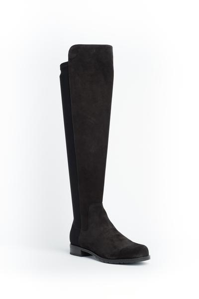Cara Black Soft Suede Eastwood Boot
