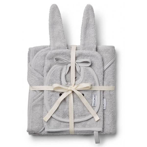Liewood Dumbo Grey Adele Rabbit Terry Baby Package