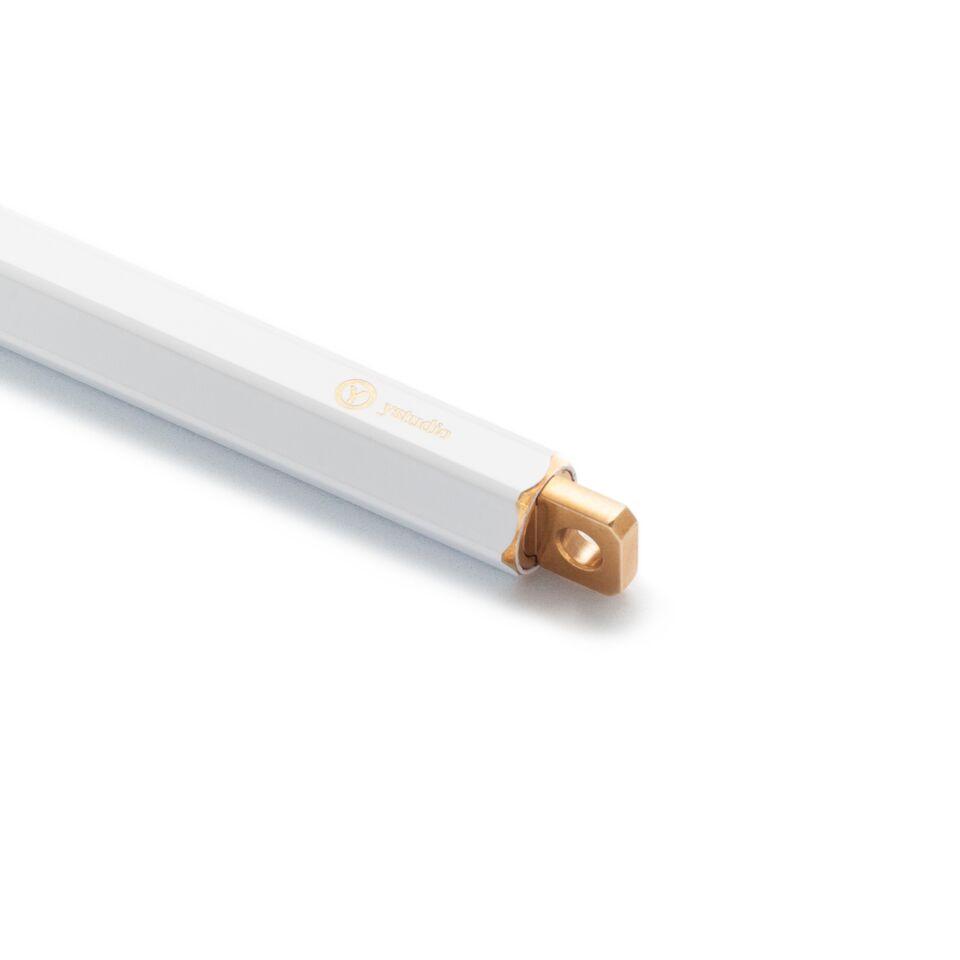 Ystudio Brassing White Portable Ballpoint Pen