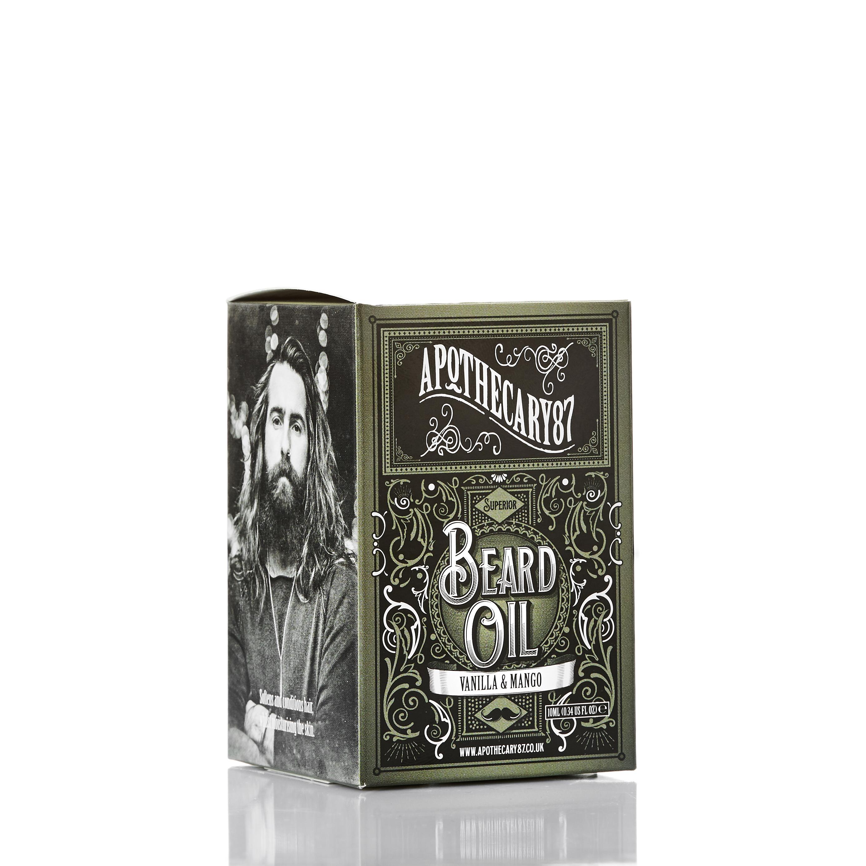 Apothecary 87 Beard Oil - A Vanilla & Mango Fragrance 10ml