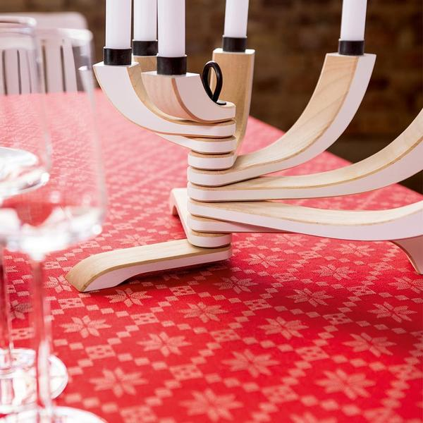 Design House Stockholm  White Nordic Light 7 Arms Candle Holder