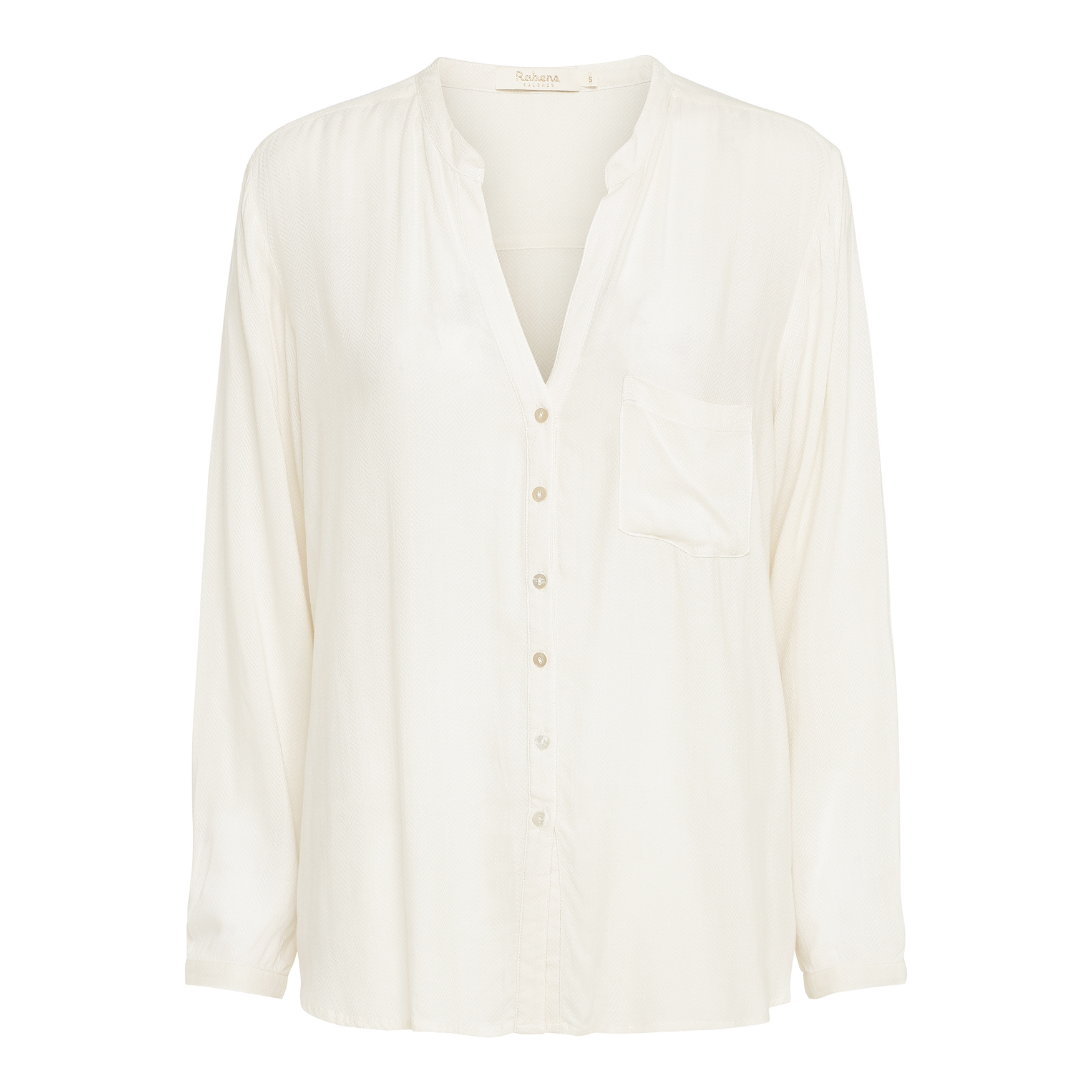 Rabens Saloner  Dara Shirt in Milk White