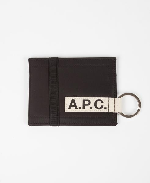 A.P.C. Black Tape Logo Lucky Wallet