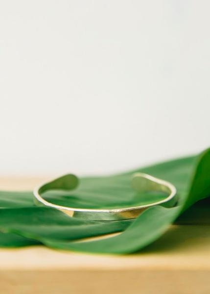 People Tree Silver Narrow Cuff