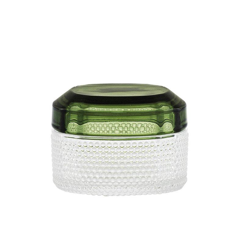 Normann Copenhagen Small Glass Brilliant Box with coloured lid