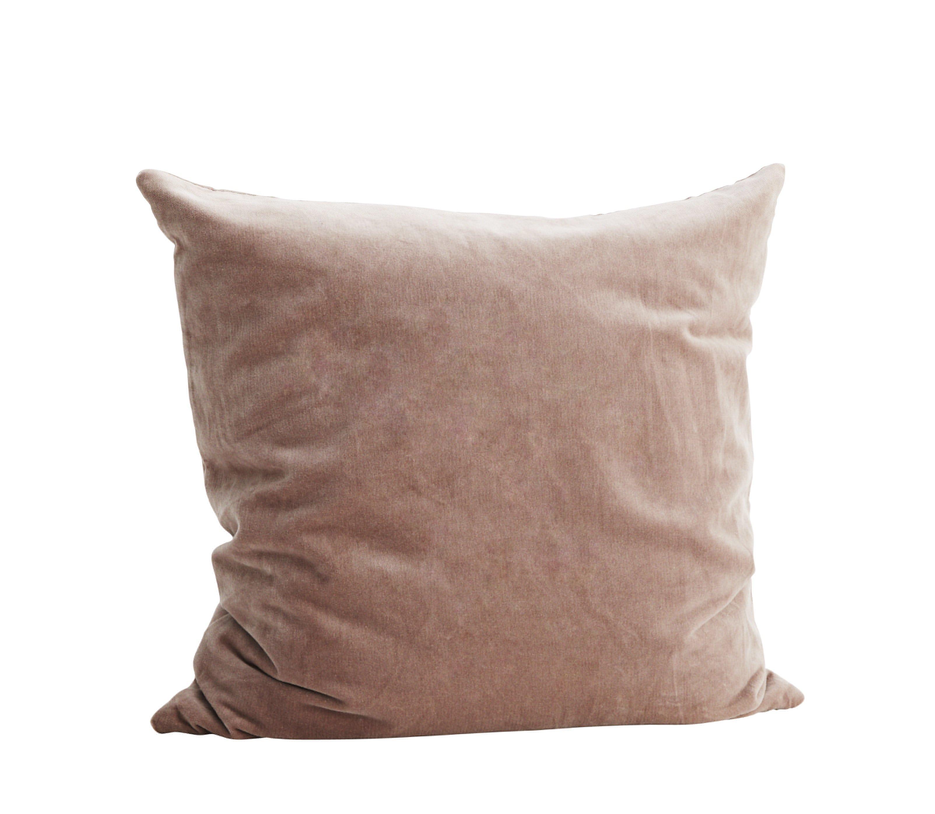 Madam Stoltz Light Plum Velvet Cushion