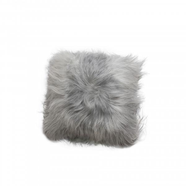 Sheepskin Rug Edinburgh: Natural Grey Icelandic Sheepskin Cushion