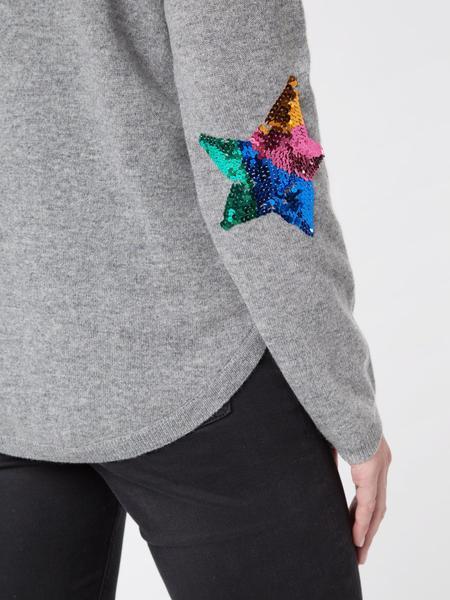Wyse London Flo Sequin Star Rainbow Jumper