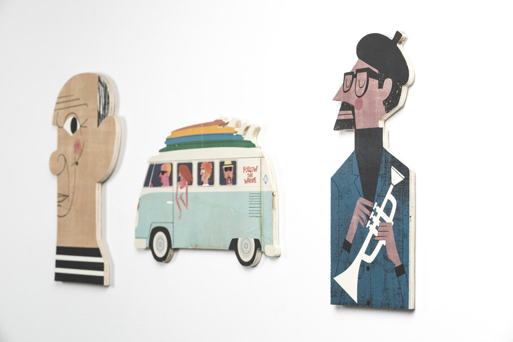 Mikel Casal Andy Warhol Egurrak 28 Wood Decoration Art