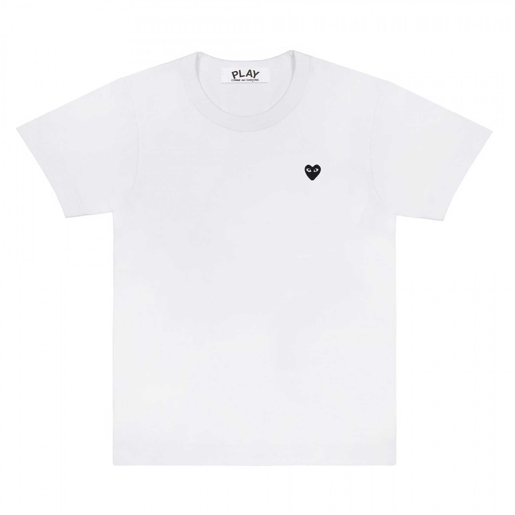 Comme Des Garcons Play White Tiny Black Heart Logo Play T-Shirt