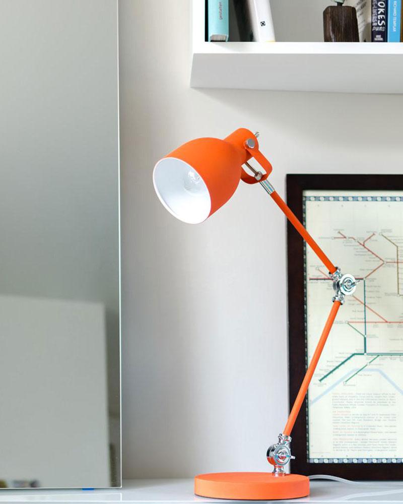 Goldfish Orange Task Lamp