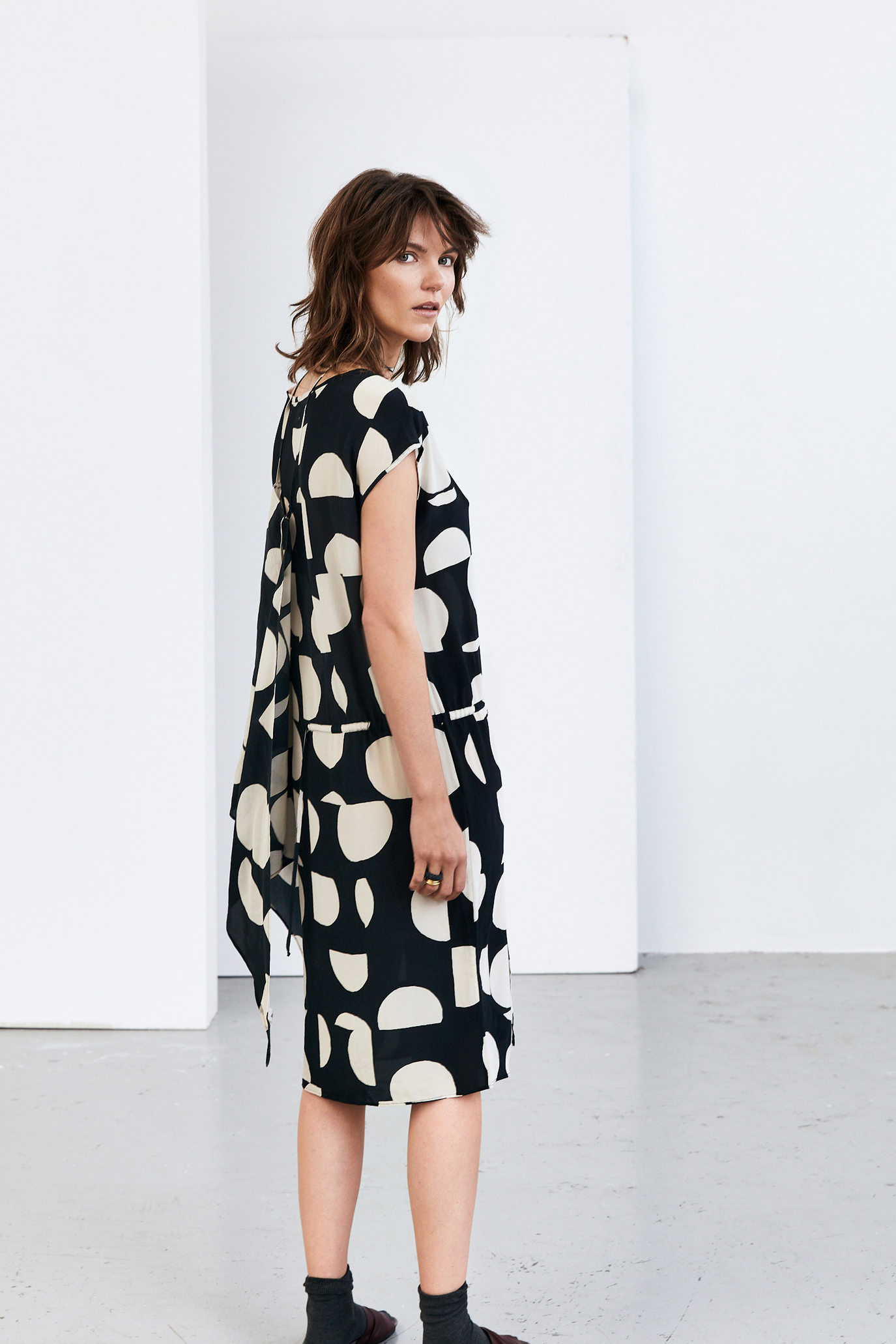 Humanoid Emma Silk Dress Blackish