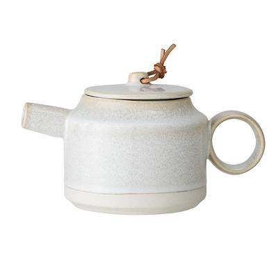 Bloomingville Joelle Teapot In Cream Glaze