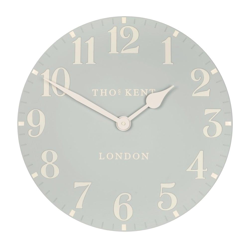 "Duck Egg Arabic Wall Clock - 20"""