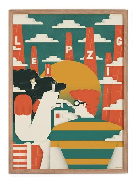 Trouva Leipzig Poster