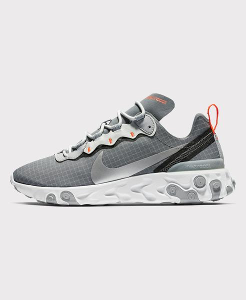 Nike Cool Grey Silver React Element 55 Trainers