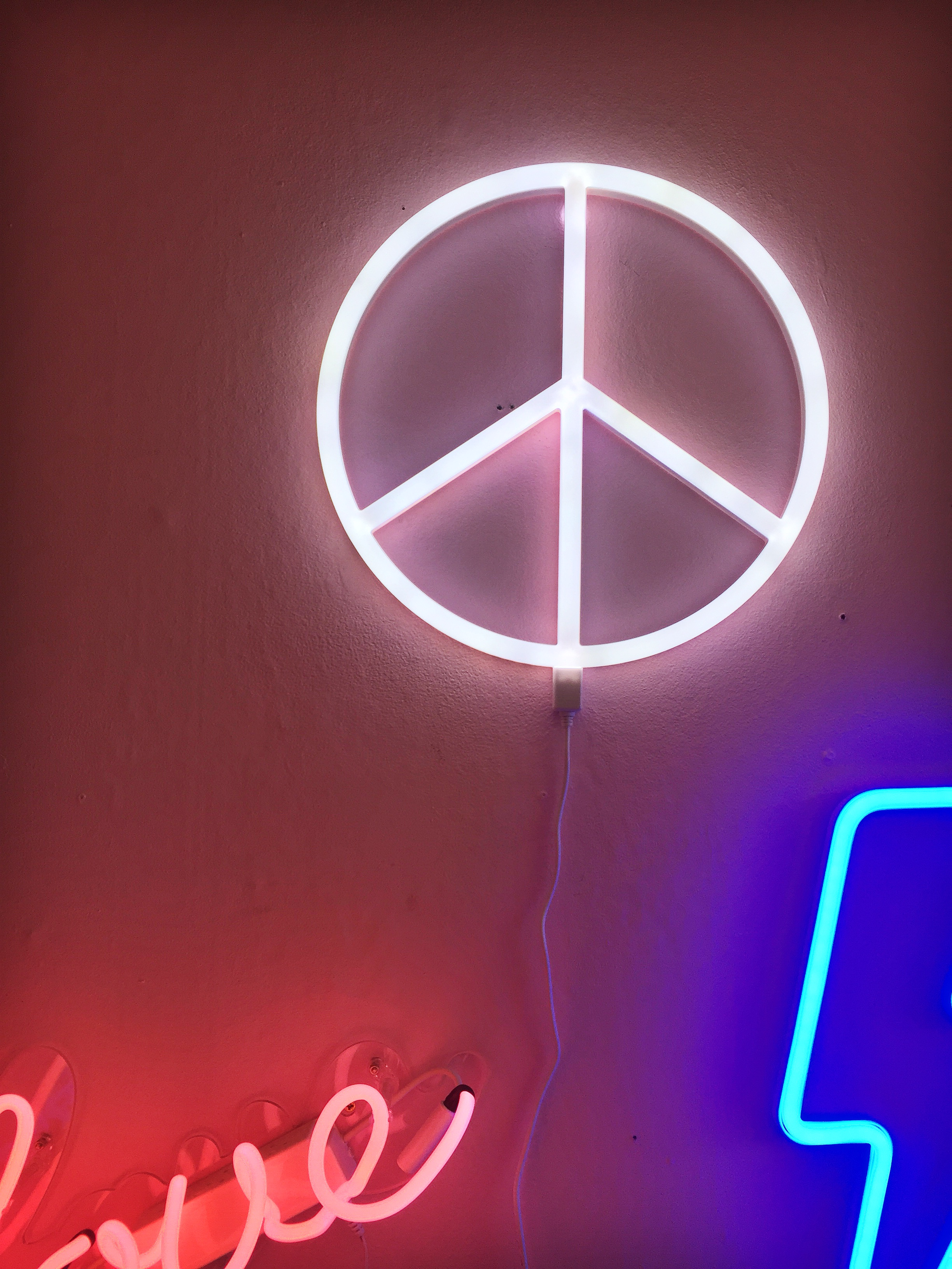 A Little Lovely Company Peace L E D Neon Light