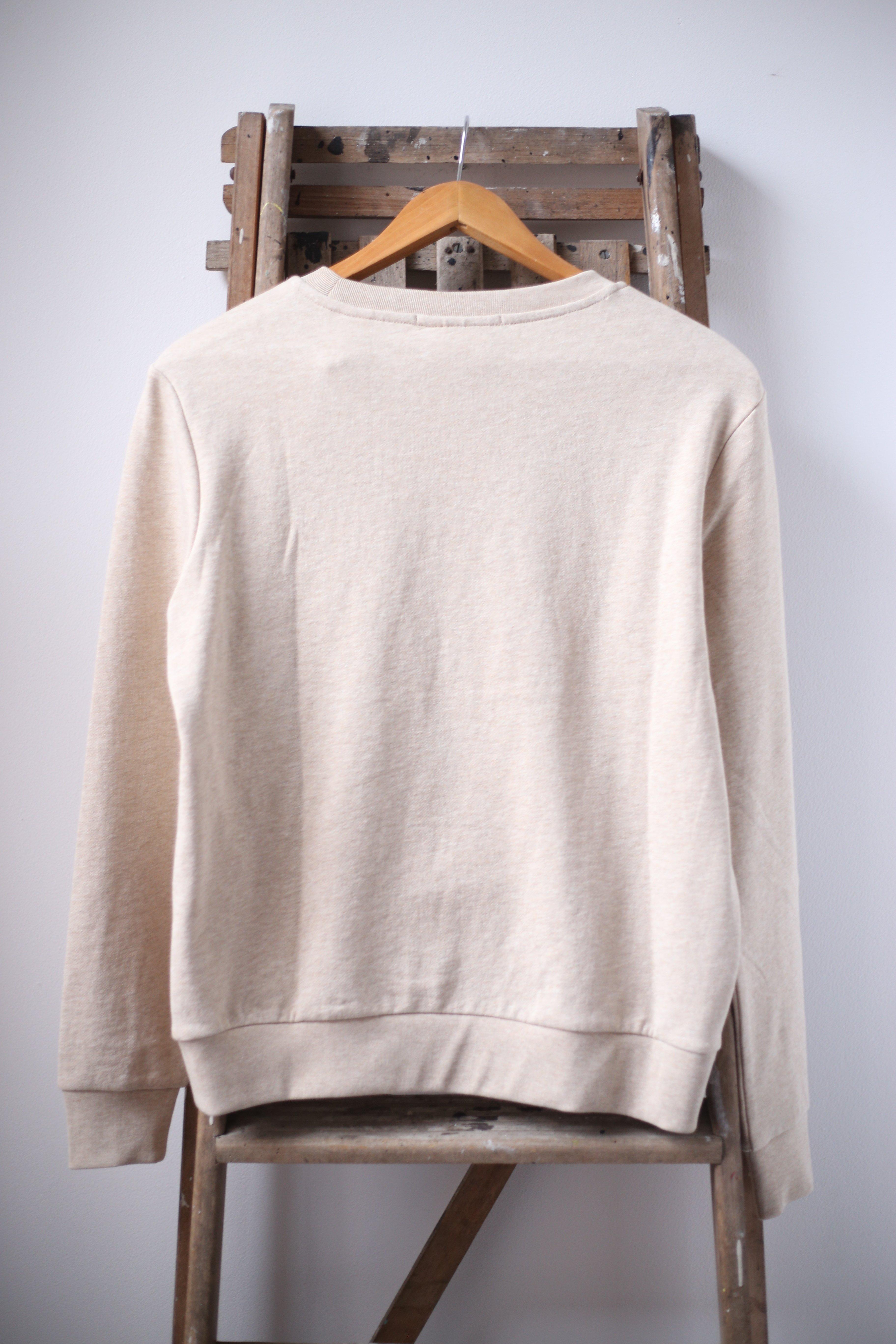 5d995bc1e Trouva  Suéter De Cuello Redondo De Avena