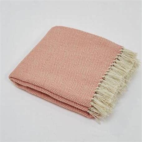 Weaver Green Coral Diamond Blanket Throw